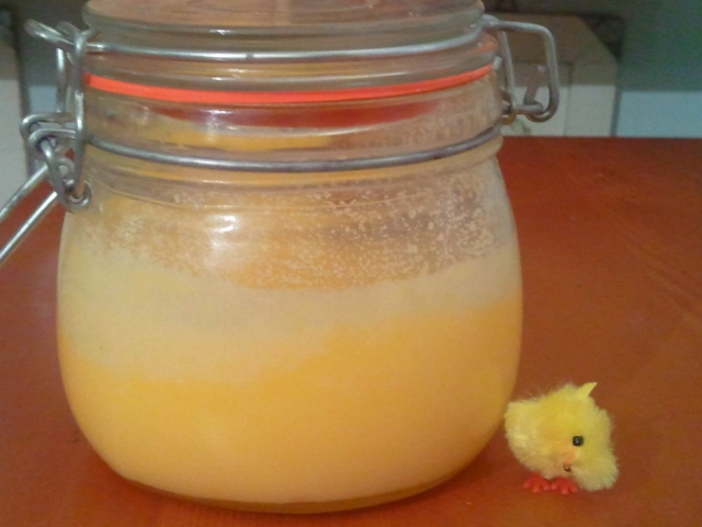 """This is the """"set"""" butter oil / ghee, or, clarified butter. Happy Cooking ;-)"""