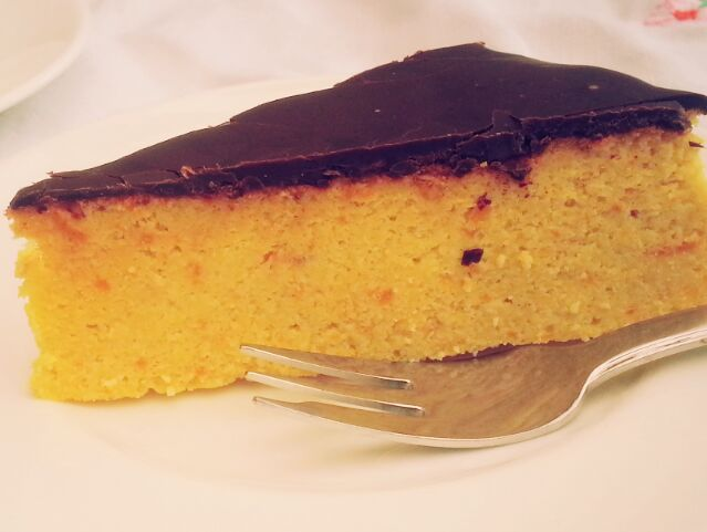 Orange Cake with a scrumptious dark chocolate blanket